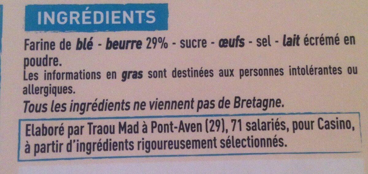 galettes bretonnes spécialité de Pont-Aven - Ingrédients - fr