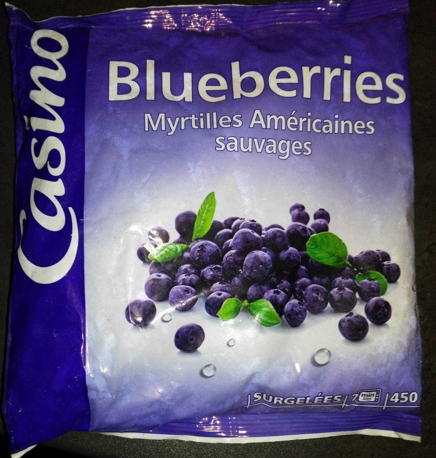 Blueberries Myrtilles Américaines sauvages - Produit