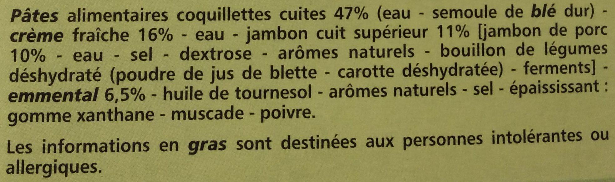 Coquillettes jambon emmental - Ingrediënten - fr