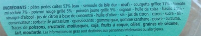 Perles de pâtes et légumes grillés - Ingrédients - fr