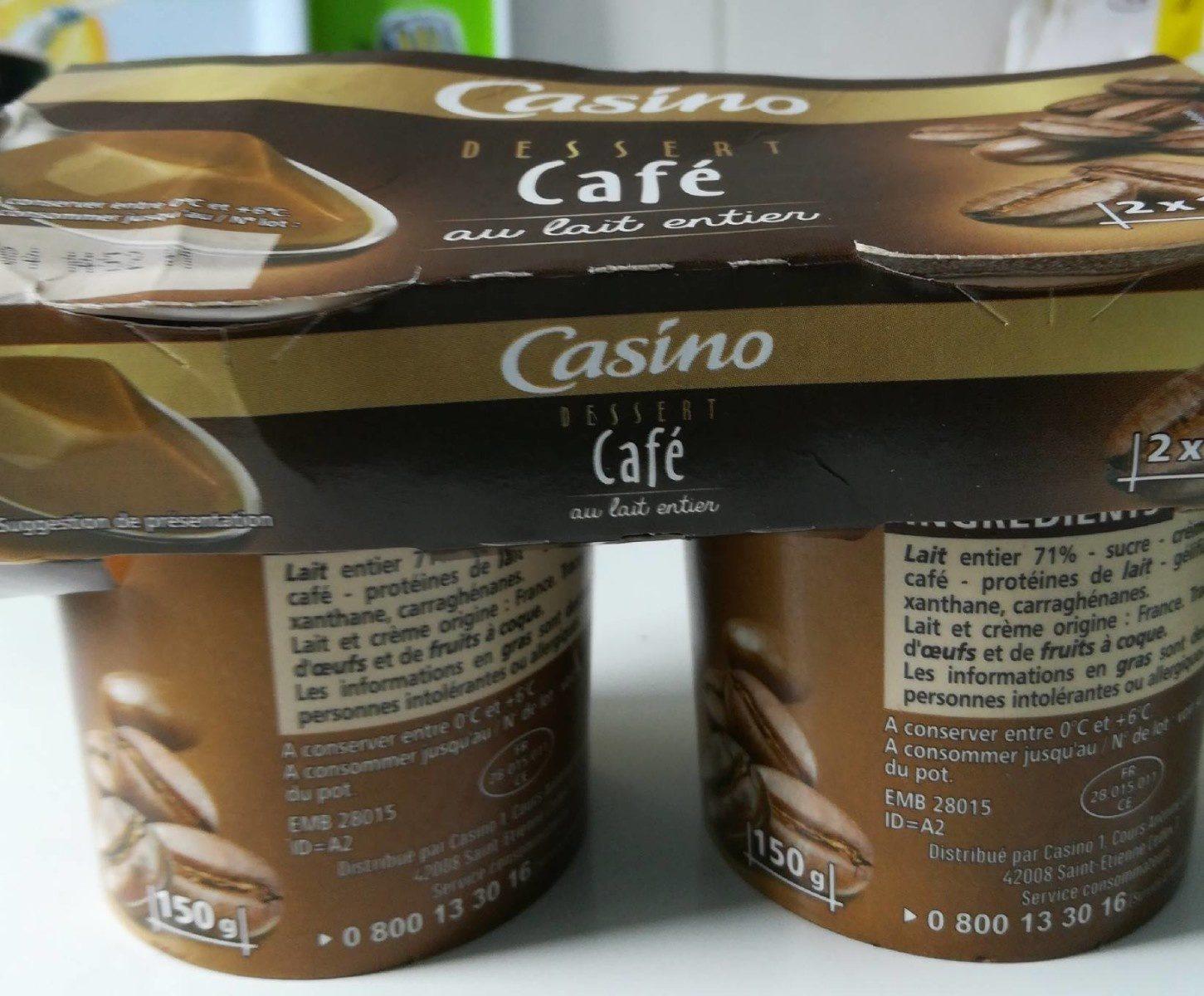 Dessert café au lait entier - Produit - fr