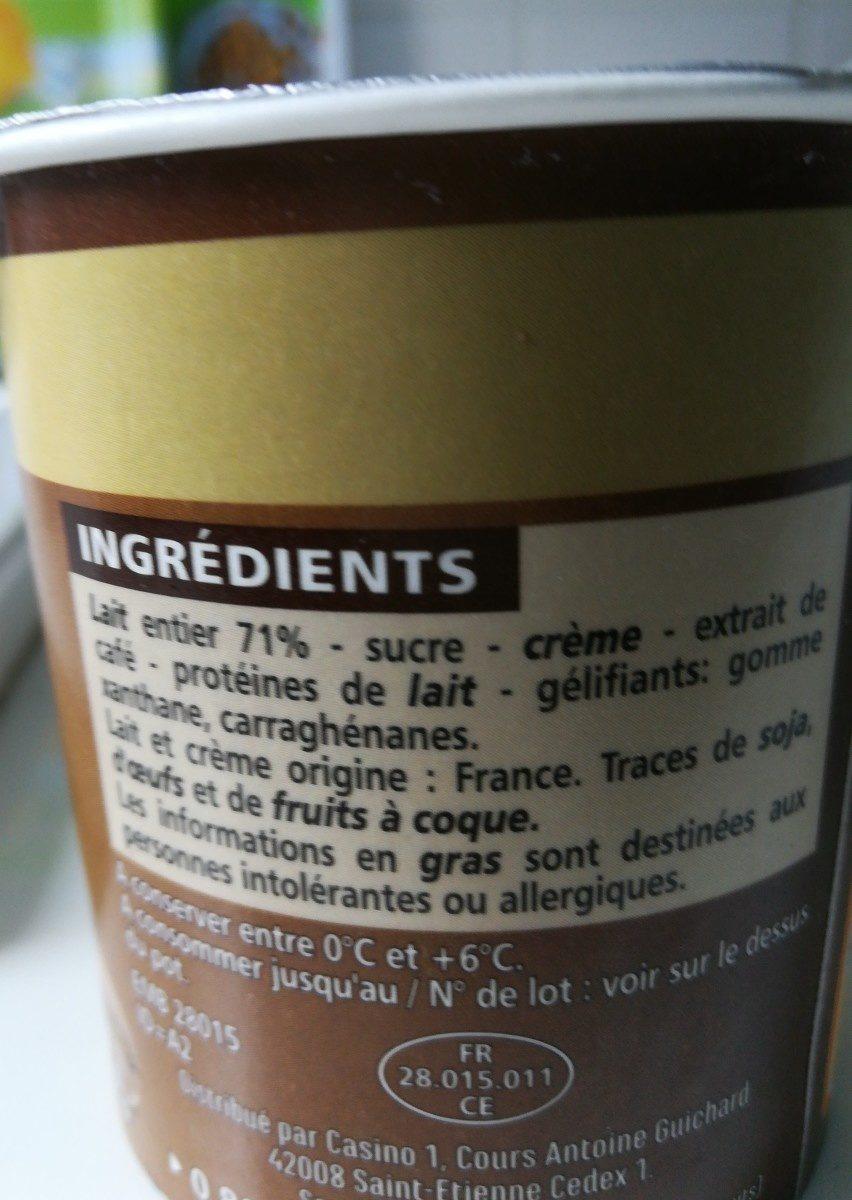 Dessert café au lait entier - Ingrédients - fr