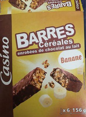 Barre céréalière enrobage total Banane x6 - Product - fr