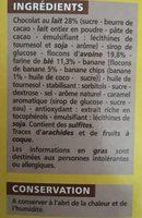 Barre céréalière enrobage total Banane x6 - Ingrediënten - fr