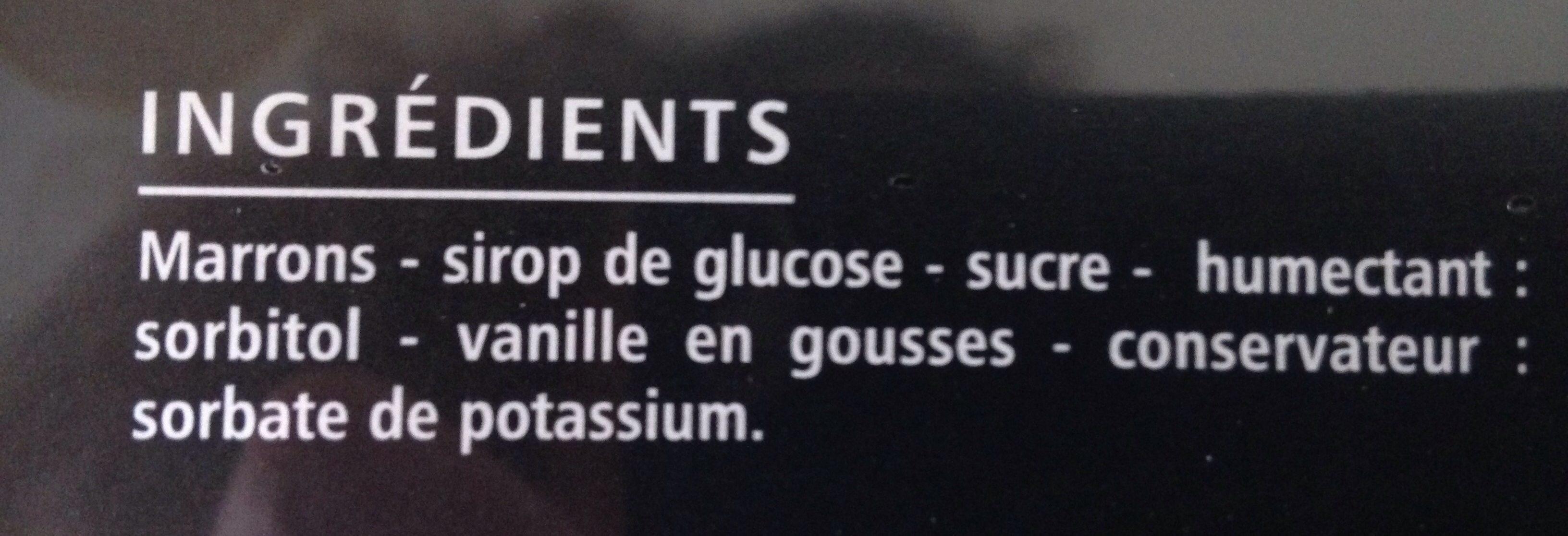 10 Marrons Glacés premium 200g Casino Delices - Ingredients - fr