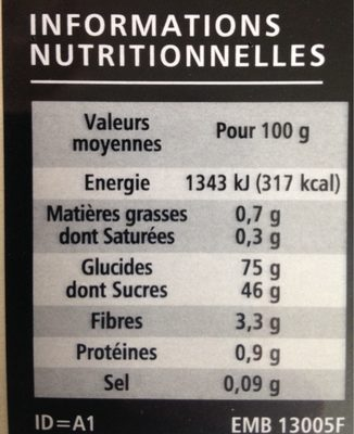 10 Marrons Glacés premium 200g Casino Delices - Nutrition facts - fr