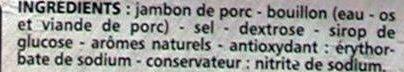 Jambon de Paris découenné dégraissé - Ingrédients - fr