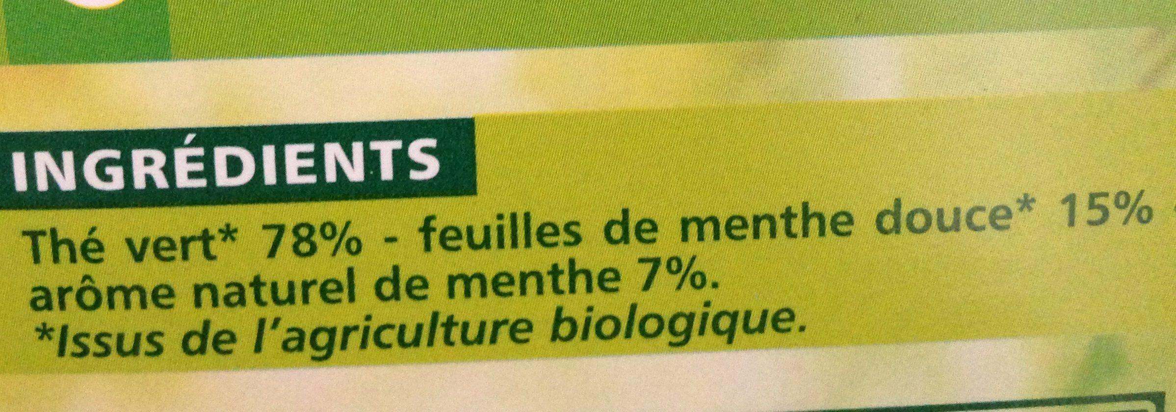 Thé vert à la Menthe - Ingrédients - fr