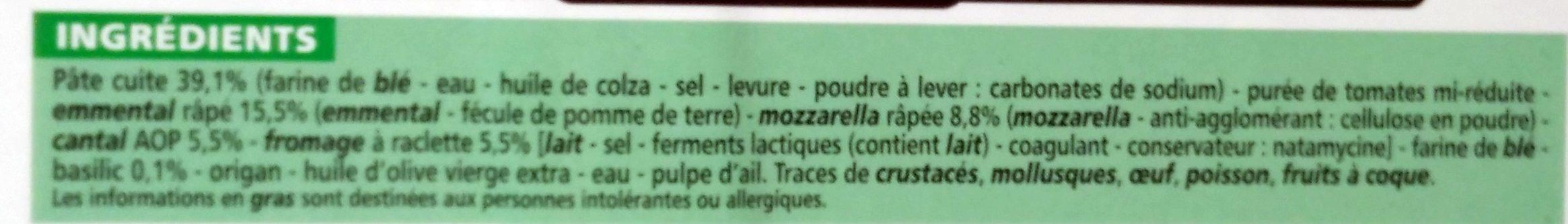 Pizza à pâte fine 4 fromages - Ingrédients