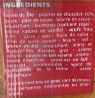 Brioche Tranchée aux Pépites de Chocolat - Ingredients