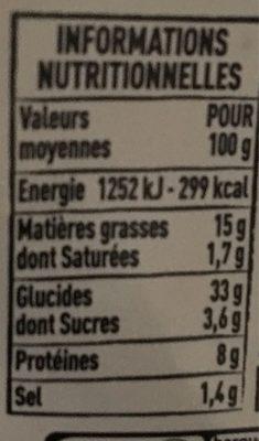 2 Tielles sétoises - Voedingswaarden - fr