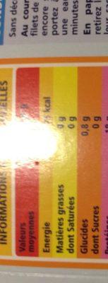 Cœurs de filets de cabillaud ( gadus morhua) 2x125g sachet sous vide et etui carton - Ingrédients