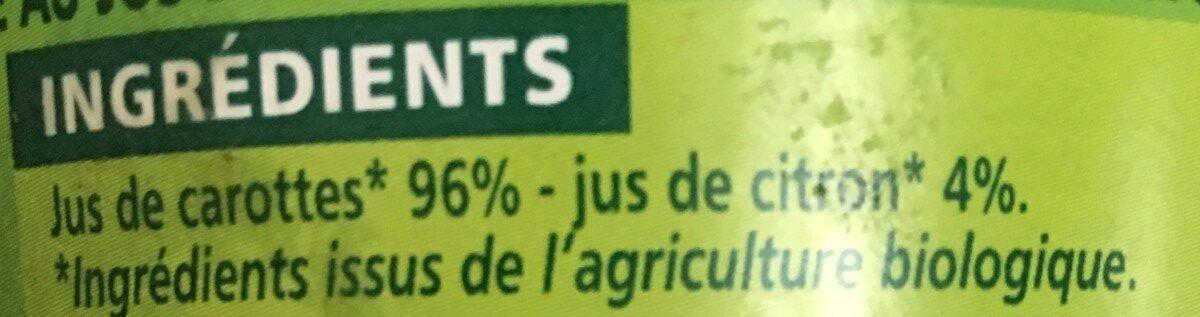 100% Pur Jus Carotte - Ingrediënten
