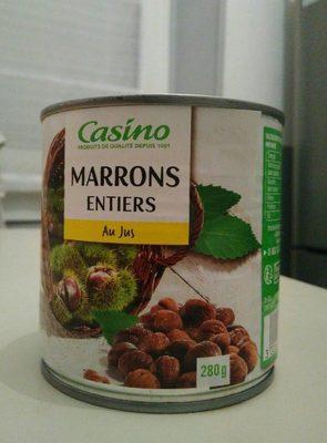Marrons entiers au jus - Produit