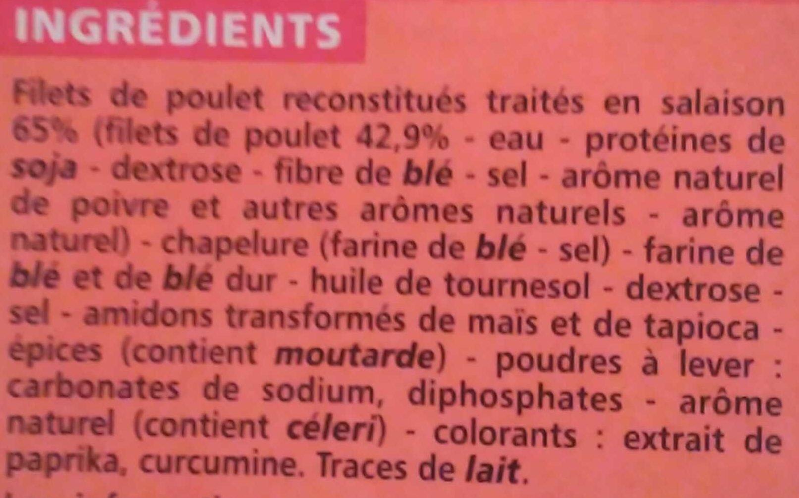 Nuggets de poulet (100% filet) - Ingrediënten - fr