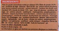 Cordons bleus de poulet (100% filet) - Ingrédients - fr