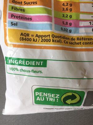 Choux-fleurs en fleurettes Agriplus - Ingredients - fr