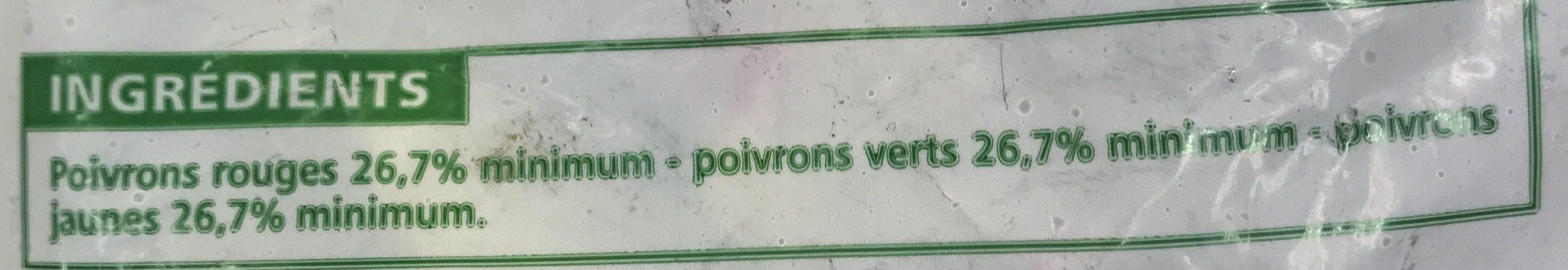Trio de poivrons Agriplus - Ingredients - fr