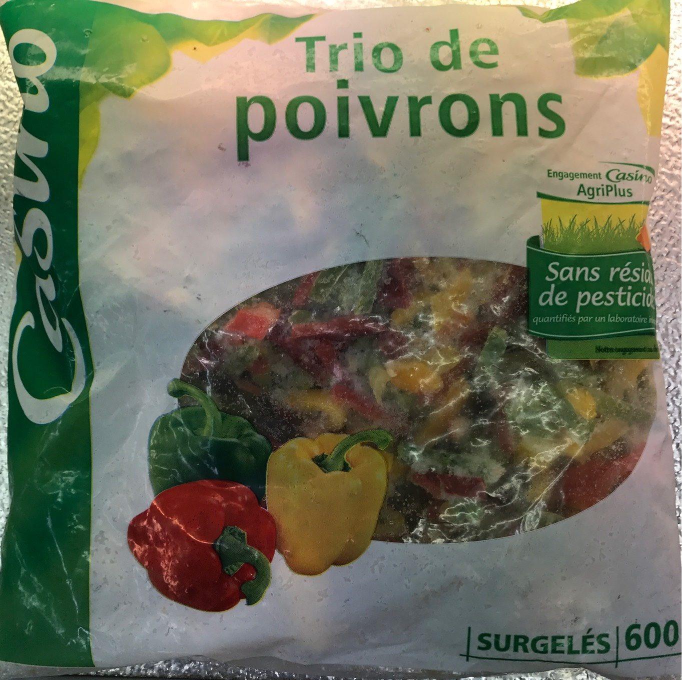 Trio de poivrons Agriplus - Nutrition facts - fr
