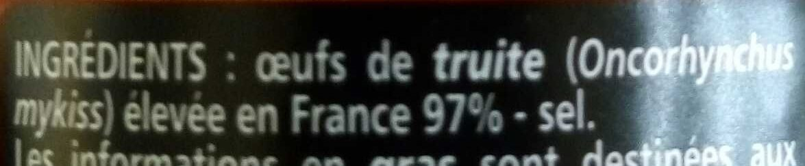 Œufs de truite - Ingrédients - fr