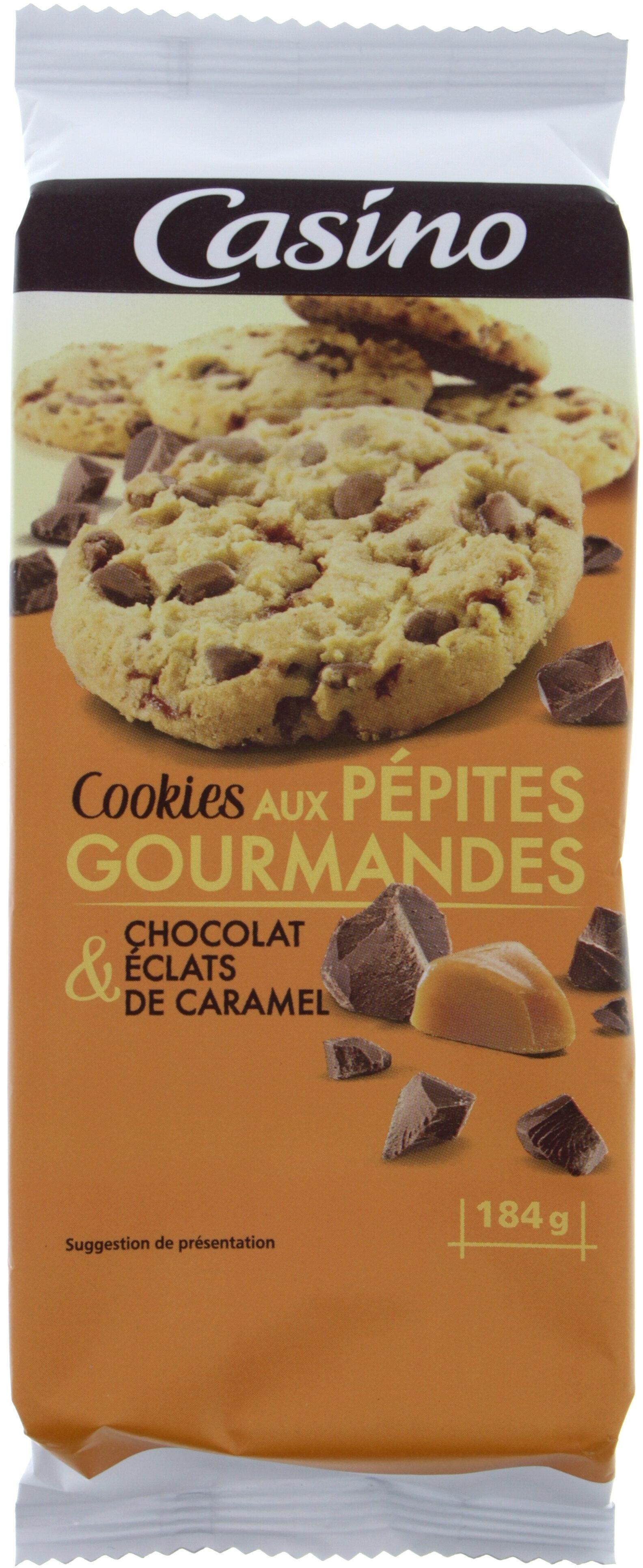 Cookies aux pépites gourmandes choclat et éclats de caramel - Product