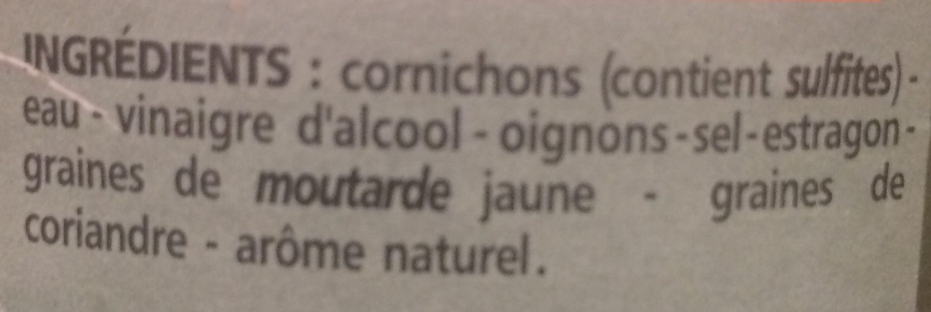 Mini-cornichons - Ingredients
