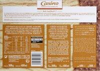 Maxi bâtonnets caramel au beurre salé enrobage chocolat au lait avec éclats de crêpes dentelles x4 - Nutrition facts - fr