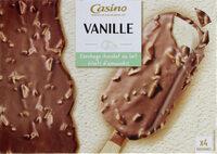 Maxi bâtonnets vanille enrobage chocolat au lait éclats d'amandes x4 - Product