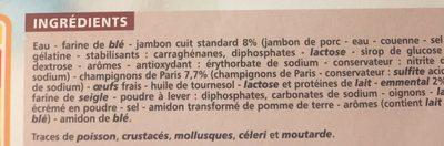 6 Crêpes Jambon Champignons Emmental - Ingredients
