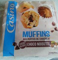 Muffins aux pépites de chocolat cœur au goût choco noisette - Produit