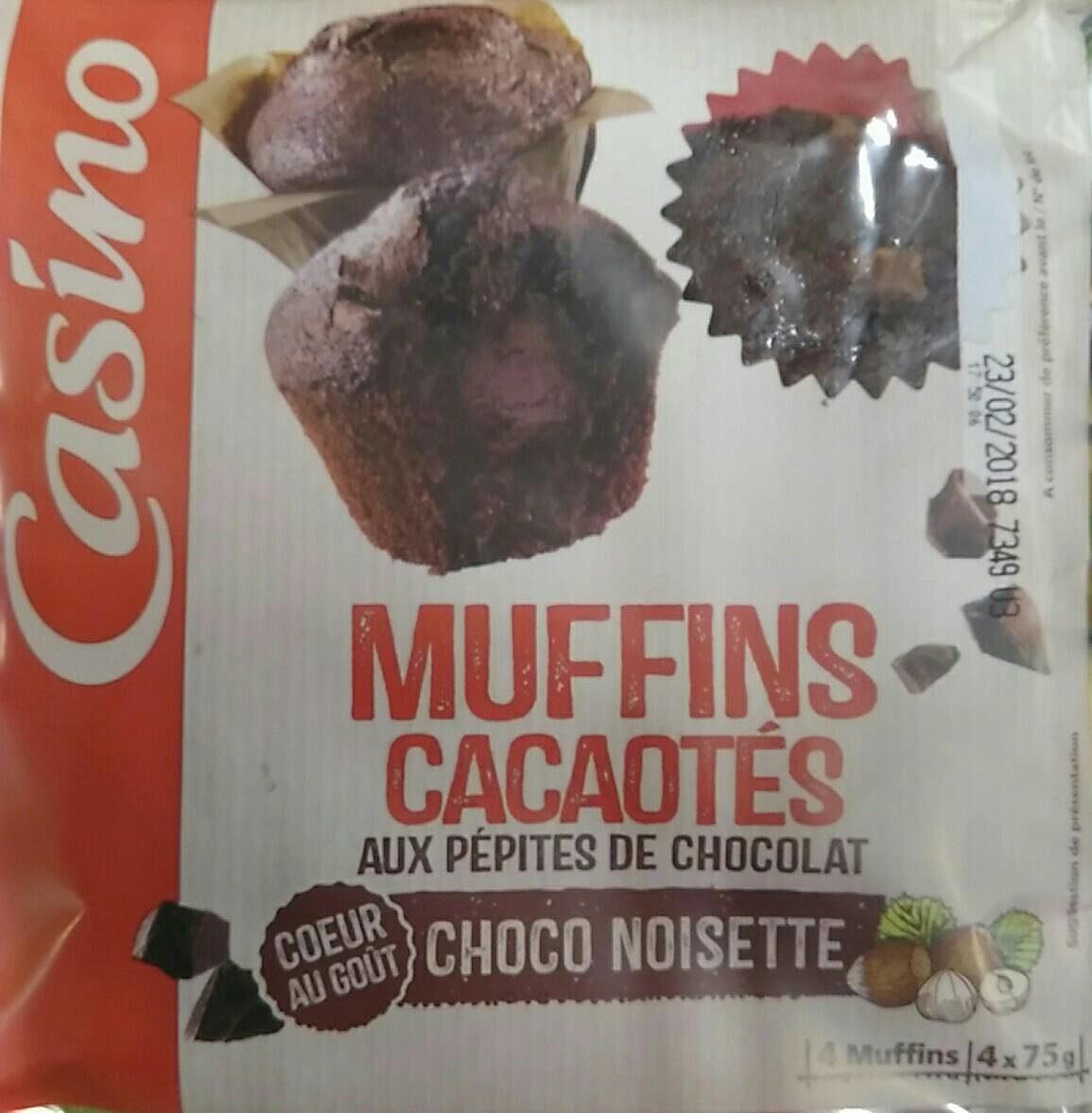 Muffins cacaotés aux pépites de chocolat cœur au goût choco noisette - Produit - fr