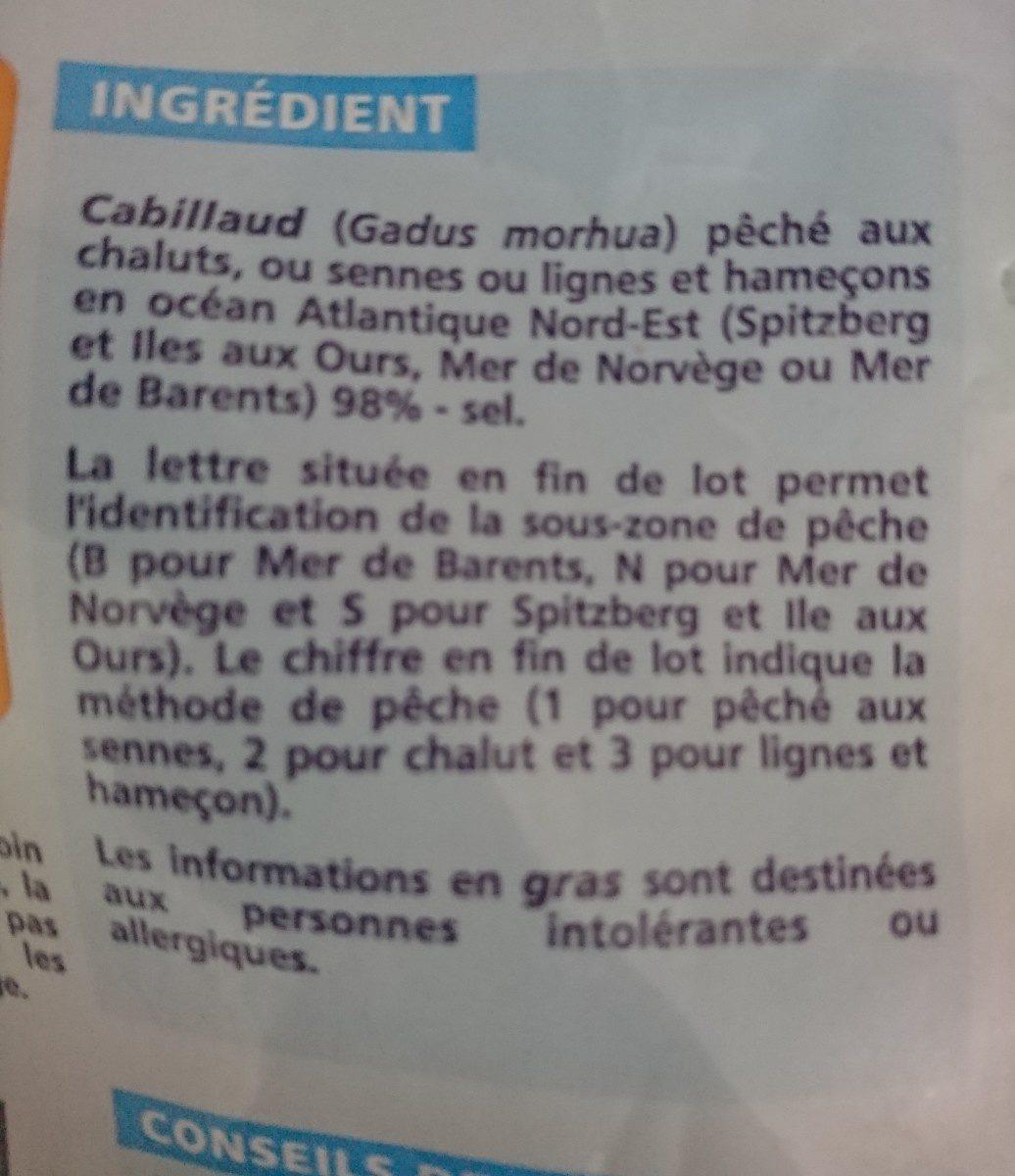 Filets de morue - Ingrédients - fr
