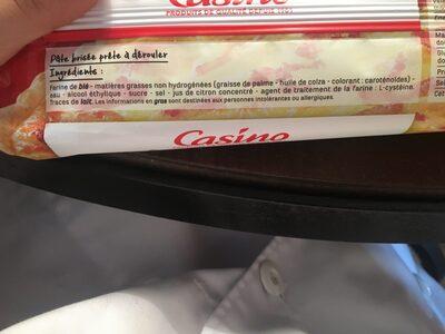 Pâte brisée - Ingredients