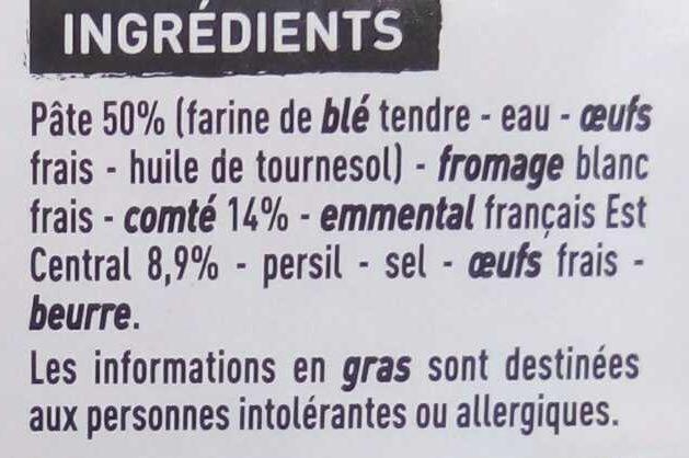 Ravioles du Dauphiné IGP Label Rouge - Ingrediënten - fr