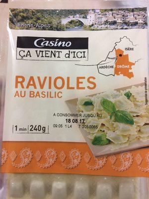 Ravioles au basilic - Product