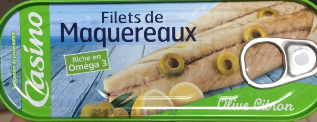 Filets de maquereaux au citron et à l'olive - Produit