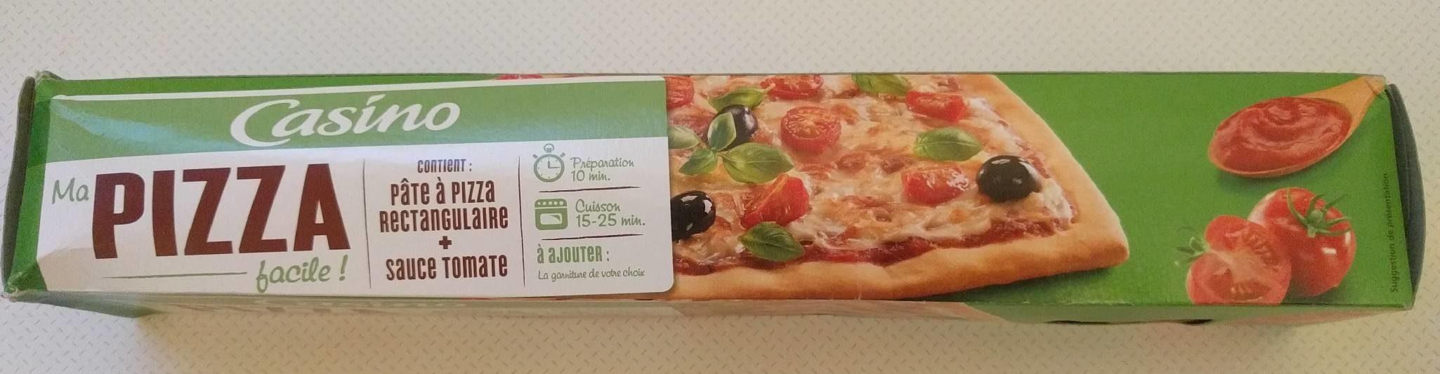 Kit à pizza (pâte à pizza rectangulaire + sauce tomate) - Product