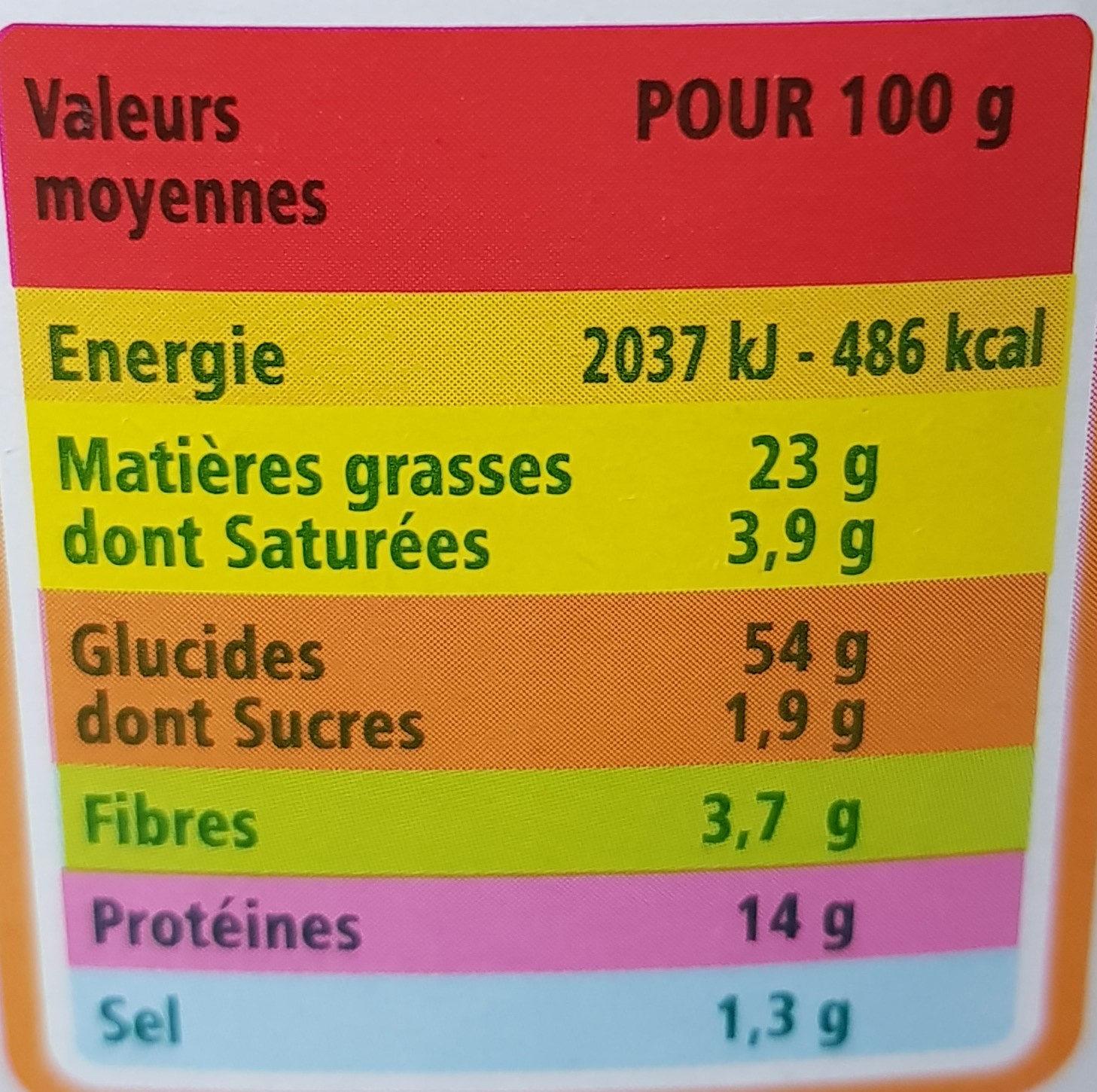 Gressins aux graines de sésame Bio - Nutrition facts - fr