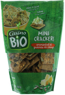 Mini Crackers Emmental Et Graines De Courge - Prodotto - fr