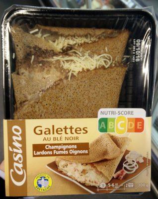 Galettes au blé noir champignons lardons fumés oignons - Produit - fr
