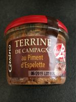 Terrine de campagne au piment d'espelette LR - Produit