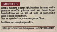Confit de canard et pommes de terre à la sarladaise - Ingrediënten - fr