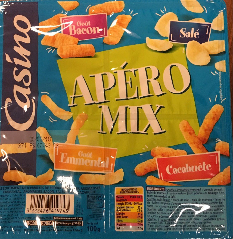 Coffret Extrudé (croustillant emmental / cacahuète / Bacon 3D / pétale salé (chipster)) Casino - Produit - fr