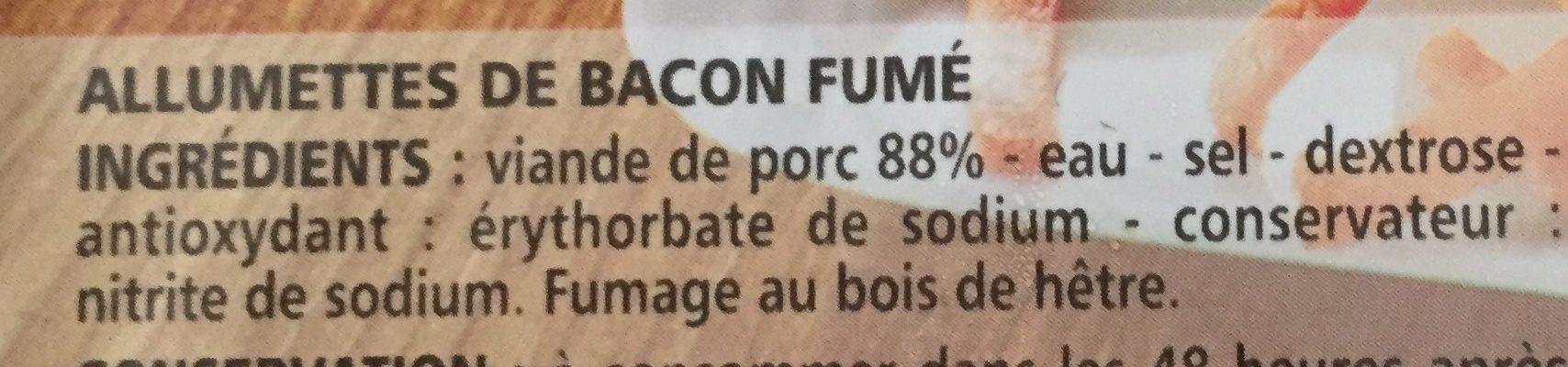 Allumettes de bacon fumé - Ingrediënten