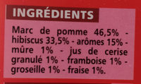 Infusion fruits rouges - Ingrédients - fr