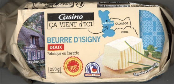 Beurre d'Isigny doux - Product - fr