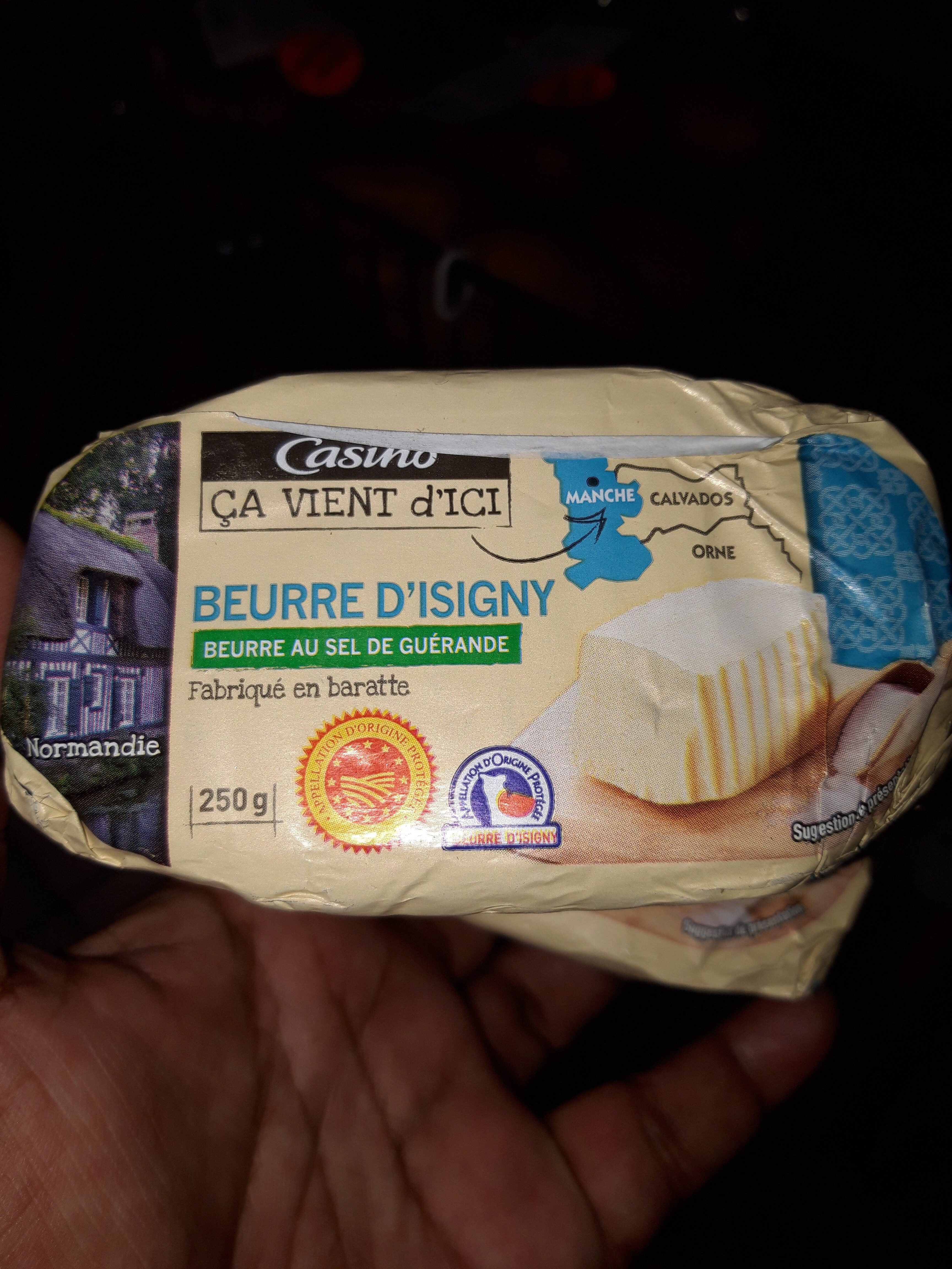 Beuure d'Isigny beurre au sel de Guérande - Product - fr