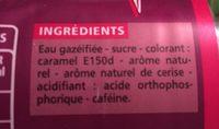 Cola cherry - saveur cerise - Ingredients