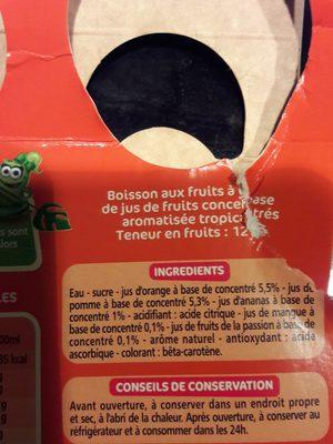 Tropical Boisson aux fruits - Ingrediënten - fr