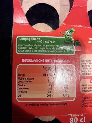 Tropical Boisson aux fruits - Voedingswaarden - fr